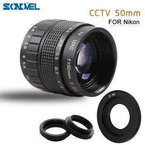 Image 1 - 50mm F1.4 CCTV TV Movie lens+C Mount+Macro ring for Nikon 1 AW1 S2 J4 J3 J2 J1 V3 V2 V1 mirrorless Camera C NI
