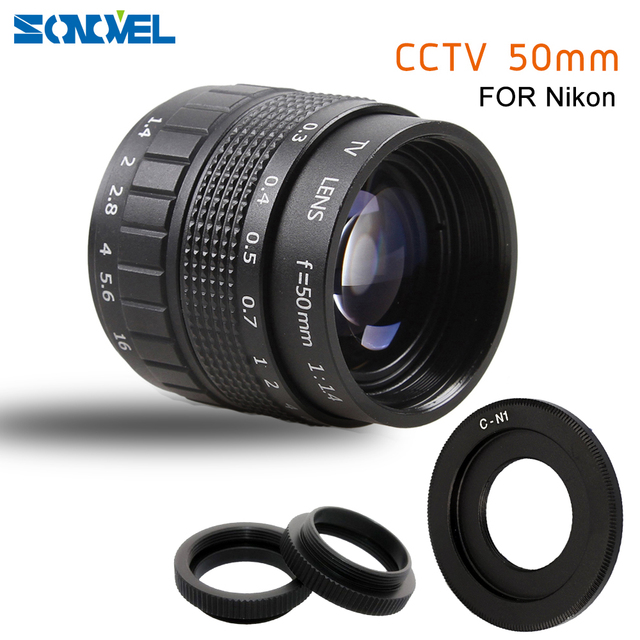 50mm F1.4 CCTV TV Movie lens+C Mount+Macro ring for Nikon 1 AW1 S2 J4 J3 J2 J1 V3 V2 V1 mirrorless Camera C NI