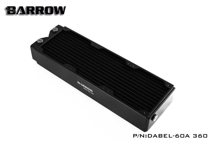 Brouette Dabel-60a 360 MM simple vague ordinateur cuivre radiateur à eau 60 MM épaisseur refroidissement refroidisseur support pc 12 cm ventilateur dissipateur thermique, 3x120 MM