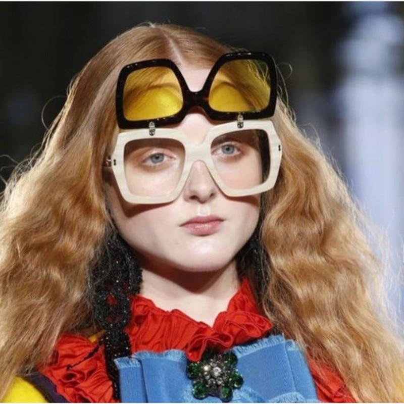 2018 Лидер продаж Мода Большой площади кадра улица выстрел Ретро Для мужчин wo Для мужчин UV400 Солнцезащитные очки для женщин Винтаж бренд звезд...