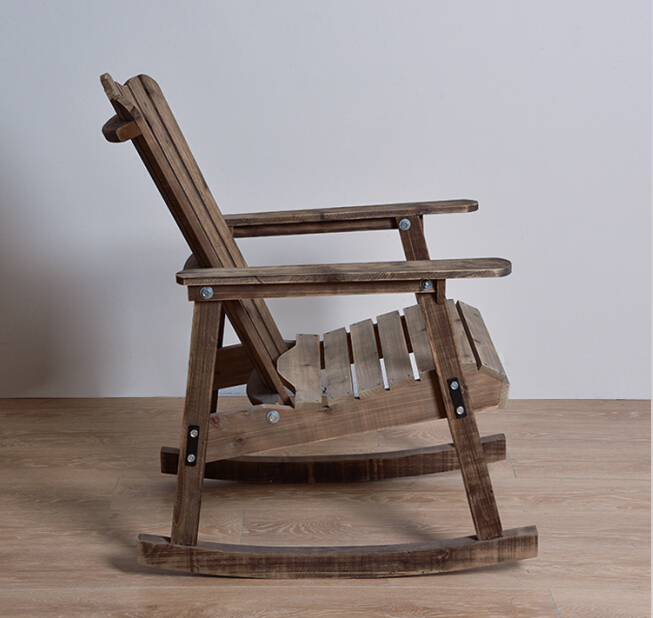 Muebles de exterior Silla de Adirondack Acabado Antiguo Patio de ...