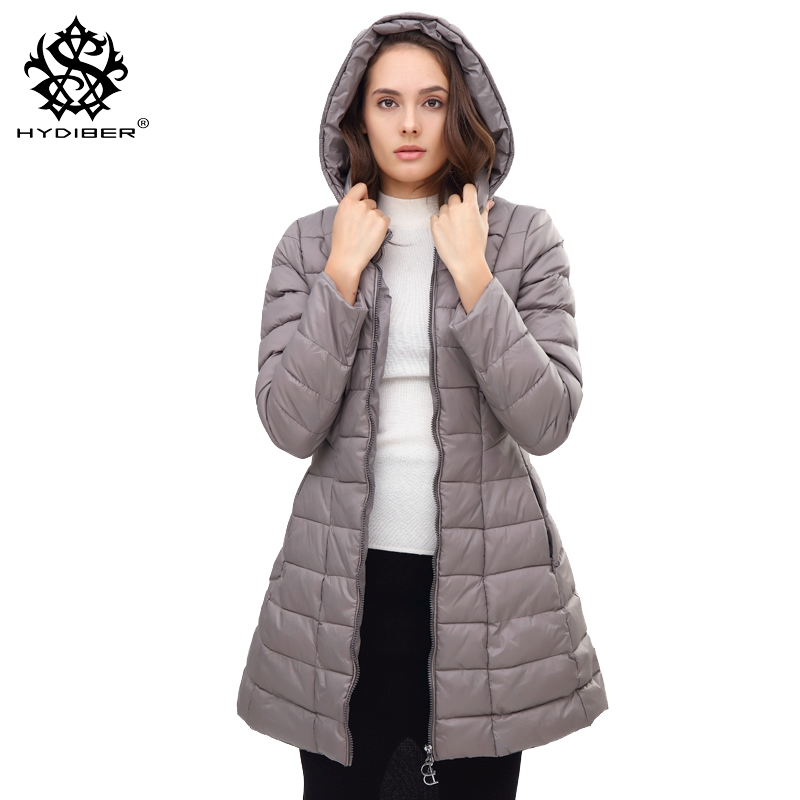 hydiber 2017 New Fashion Slimming Women Winter Warm Parka Ladies Autumn Hooded Navy Blue Long Sleeve outwar Tops Jacket Coat 3XL hot autumn womens slim wool warm coat parka navy blue size s xl light tan red navy