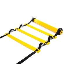 Регулируемая уличная футбольная тренировочная лестница прочная ловкость лестница для скоростной тренировки фитнес футбол ловкий темп черный