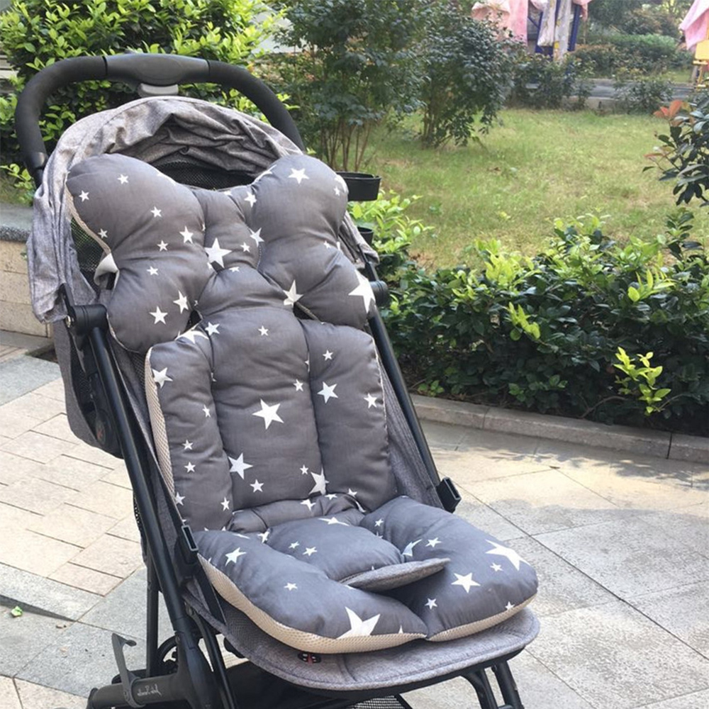 Baby Stroller Pad Seat Cartoon Thicken Pad Trolley Chair Cushion Printed Warm Cushion Pad Mattresses Pillow Cover Carriage Cart Punctual Timing Strollers Accessories Activity & Gear