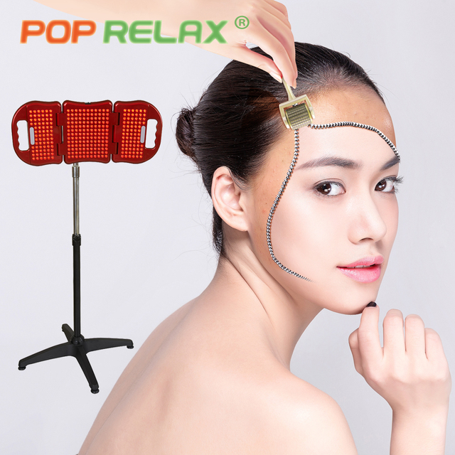 POP RELAX LED Photon Lights Skin Care Instrument Ultrasonic Red Light  Therapy Lamp Face Lift Cleaner