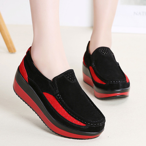 Image 5 - Hosteven kadın ayakkabısı Düz Ayakkabı Bale Hakiki Deri Platformu Kadın Ayakkabı Üzerinde Kayma Kadın kadın Loaferlar Moccasins Ayakkabı