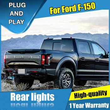 Estilo de coche para Ford F-150 Raptor luces traseras 2015-2019 para F-150 LED luz trasera Altis lámpara trasera + freno + Parque + luces de señal