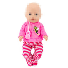Clothes For Doll Born New Baby Fit 18 inch 43cm Purple Pink Bee Red Suit Accessories Birthday Gift