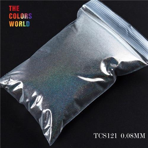 TCT-070 голографическая цветная устойчивая к растворению блестящая пудра для дизайна ногтей Гель-лак для ногтей тени для макияжа - Цвет: TCS121 200g
