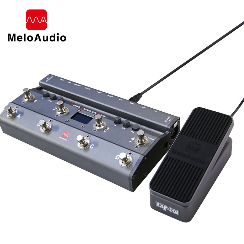 TS Mega 2 In 1 Midi Foot Controller With Audio Interface Guitar Pedal USB Recording For