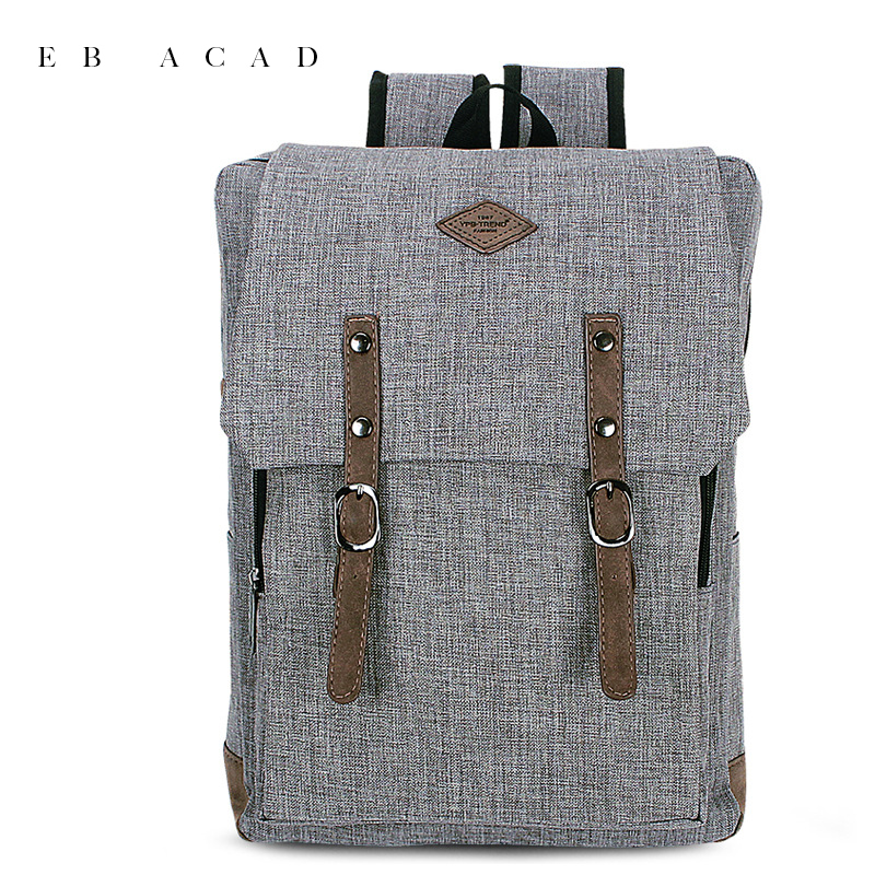 Cover Style Backpack for Men Business Laptop Boys and Girls School Bags Canvas Mochila Preppy Popular