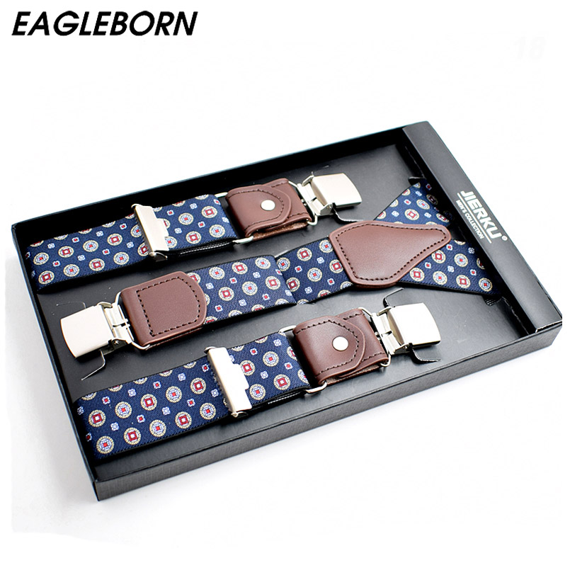 New Fashion Men's Suspenders Casual Fashion Braces  Leather Suspenders Adjustable 3 Clip Belt Strap 7 COLOR Father'day