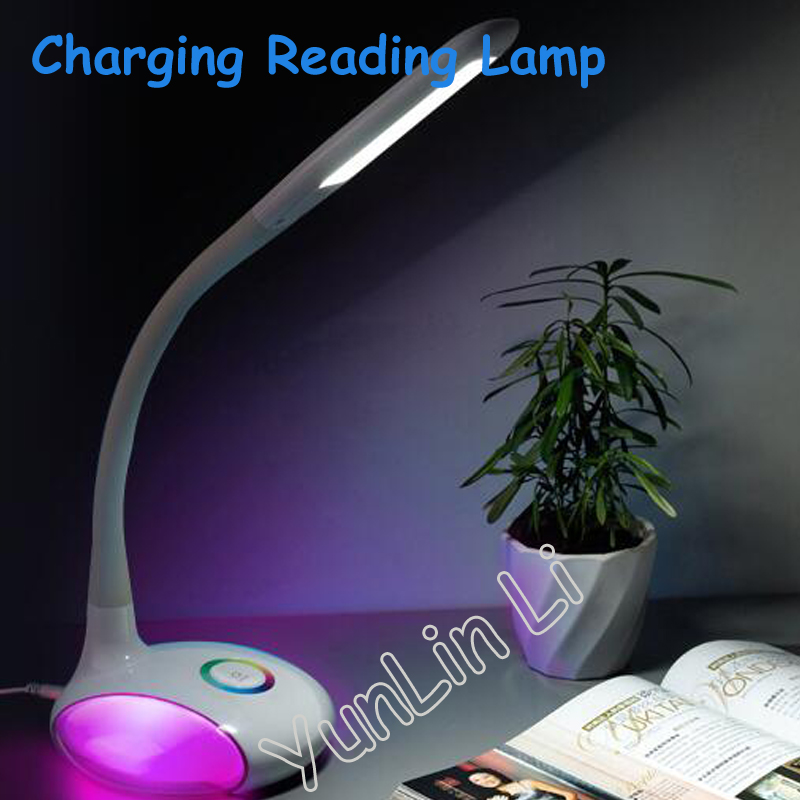 tojane tg159ts dimmable led desk lamp eye protection 3 level brightness LED Charging Lamp Eye Protection Reading Lamp Portable Desk Color Adjustable Lamp 3 Level Brightness Adjustable Lamp YSL-Q8