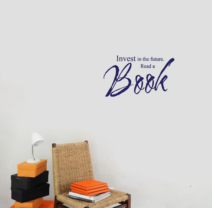 Online Shop Invest In A The Future Read A Book Wall Decals Vinyl - Vinyl wall decals books