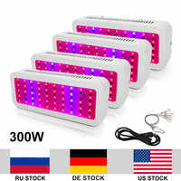 4pcs 300W Growing Lamp AC85 265V Full Spectrum 50 LEDs Grow Light For Indoor Plants Growth Flowering Hydroponics Plant Grow Tent
