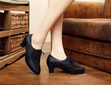 hot sale 34~43 lady soft sole ballroom plaza dancing shoes for women's tango salsa dance shoes
