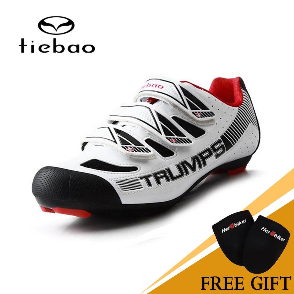 TIEBAO Road Bike Shoes Professional Triathlon Riding Team Self Locking Bike Road Riding Equipment Athletic Cycling