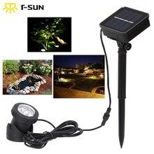 T SUN Solare Faretti 6 LED IP68 Subacquea Luci di Proiezione Esterna Giardino Stagno di Illuminazione per il Giardino Fontana dello stagno e Patio