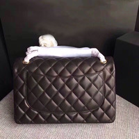 Высокое качество овчины натуральной кожи большой квадратный роскошные сумки женские брендовые сумки на плечо двойным клапаном цепи сумки