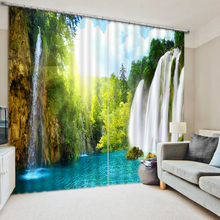 High quality luxury curtains 3d curtains custom nature waterfalls 3d curtains for living room Bedding room