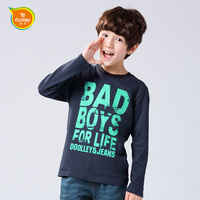 DOOLLEY Boy Cotton Long Sleeve T-shirt 2017 New Arrival Kids Casual Tops Tees Chidlren Autumn Spring Clothing Size 110-160 cm
