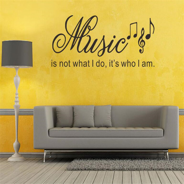 IDFIAF Where Words Fail Music Speaks Wall Stickers Quotes Removable ...