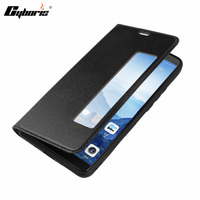 Smart View Flip Genuine Leather Window Case For Huawei Mate 10 Case Cover With Sleep Wake
