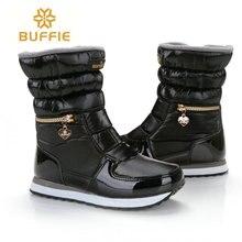 Buffie/Брендовые женские зимние ботинки женские зимние сапоги на молнии легко носить короткие версии Горячий башмак сопротивление скольжению подошва Бесплатная доставка