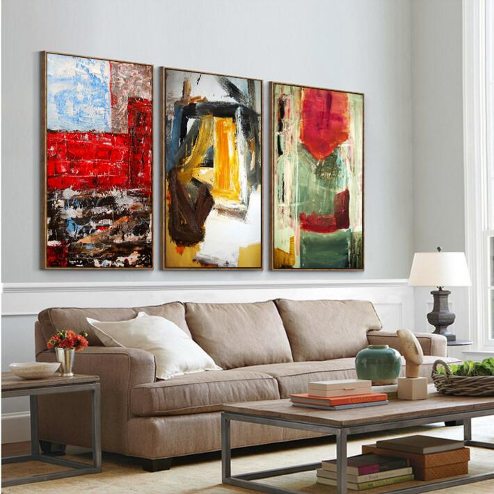 NEW Wood FRAMED Ready to Hang Nordic Simple Abstract Wall Art HD ...