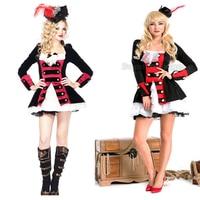 Groothandel Volwassen deluxe Kostuum piraat Halloween Pirate Kostuums Dress Up Buccaneer Uniformen Verleiding Cosplay Outfit
