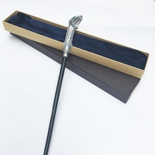 Newest Metal Core Newest Quality Deluxe Harry Potter Lucius Malfoy Magic Wands/Stick with Gift Box Packing