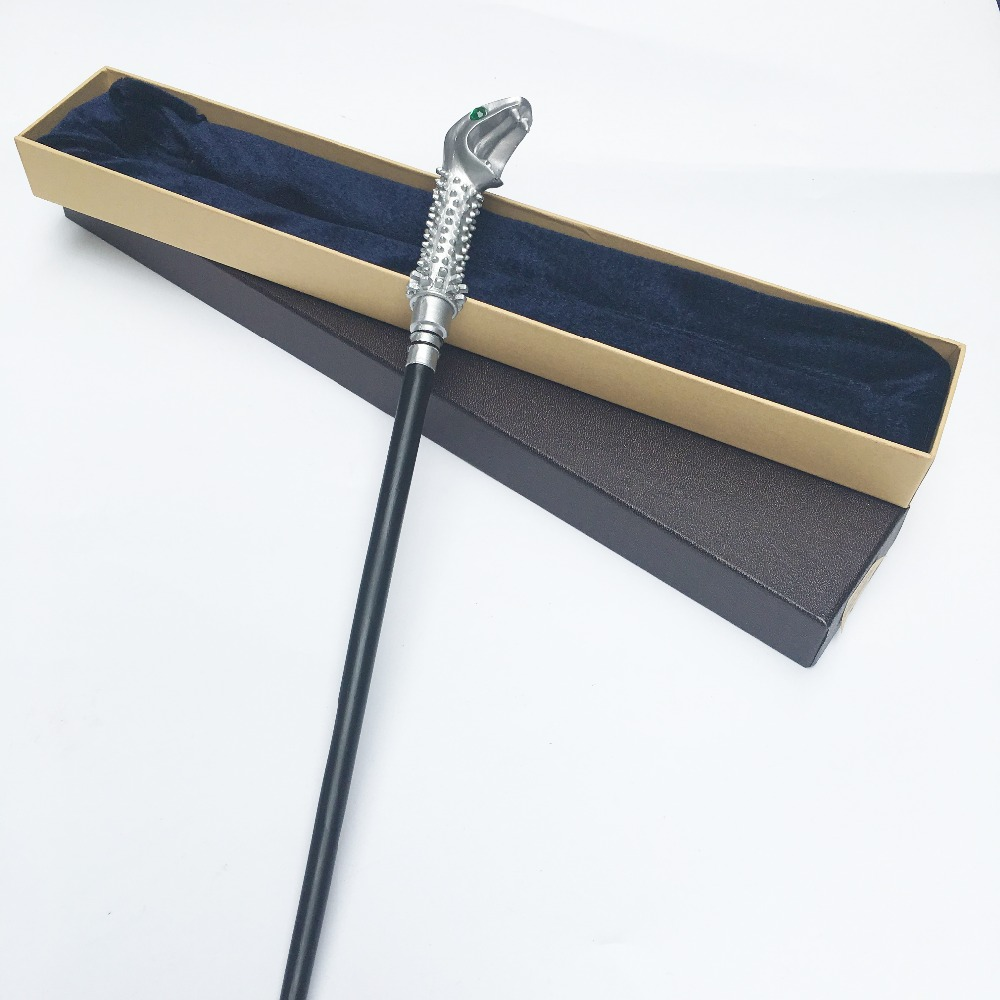 Newest Metal Core Newest Quality Deluxe Harry Moive Lucius Malfoy Magic Wands/Stick With Gift Box Packing