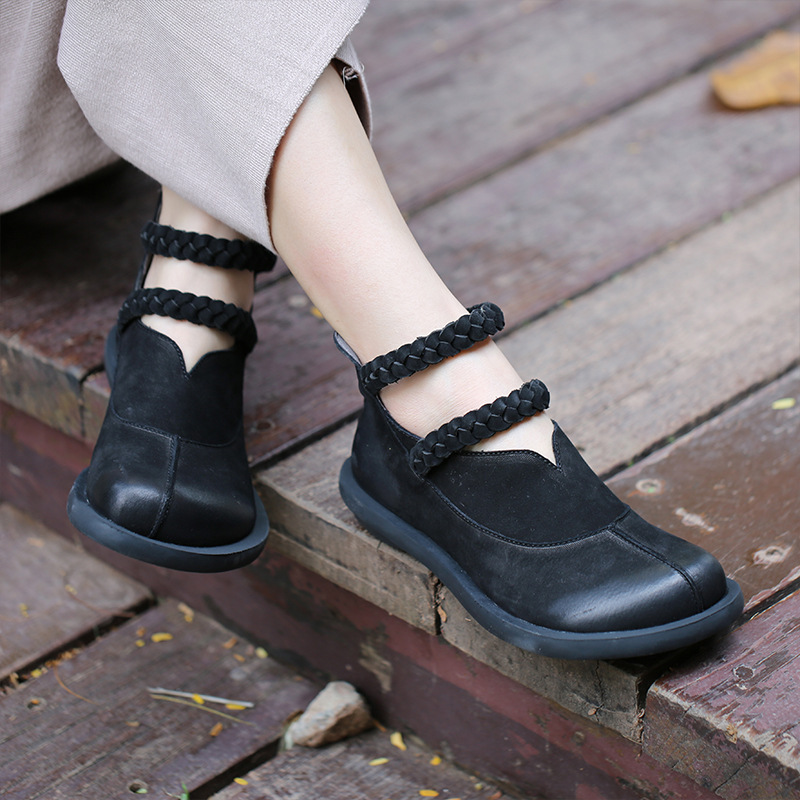 Original 2018 autumn winter women ankle boots low heel shoes round head zipper flat bottomed casual ladies boots vintage style round flat bottomed sweet bowknot short boots
