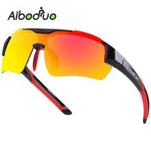 Aiboduo Cycling Glasses Photochromic Riding Bicycle Polarized Eyewear Sports Sunglasses