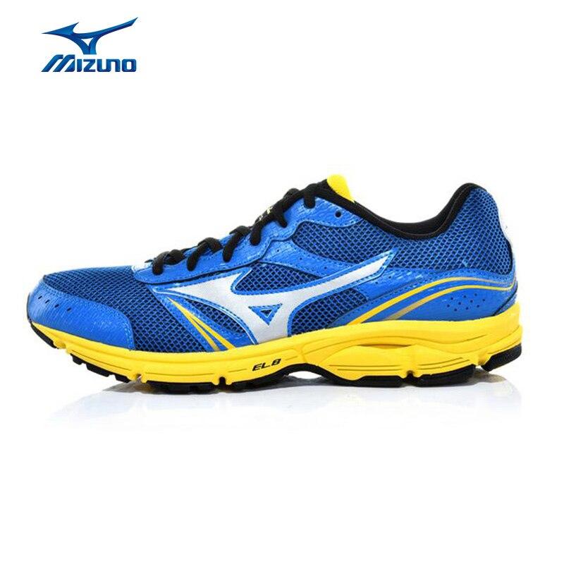 מיזונו גברים גל תנופה 3 רשת נעלי ספורט ריצה ריצת נעלי ספורט נעליים לנשימה ריפוד תמיכה J1GE151302 XYP331