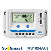EPEVER 12V 24V Auto 10A Solar Charge and Discharge Controller with LCD Display Dual USB Solar Regulator For Lead Acid Battery