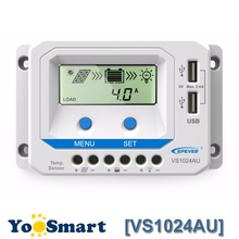 EPEVER 12V 24V Auto 10A Solar Controller with LCD Display Dual USB Solar Charge Contoller 2016 New Arrival epever 45a solar controller 12v 24v 36v 48v auto vs4548au pwm charge controller with built in lcd display and double usb 5v port