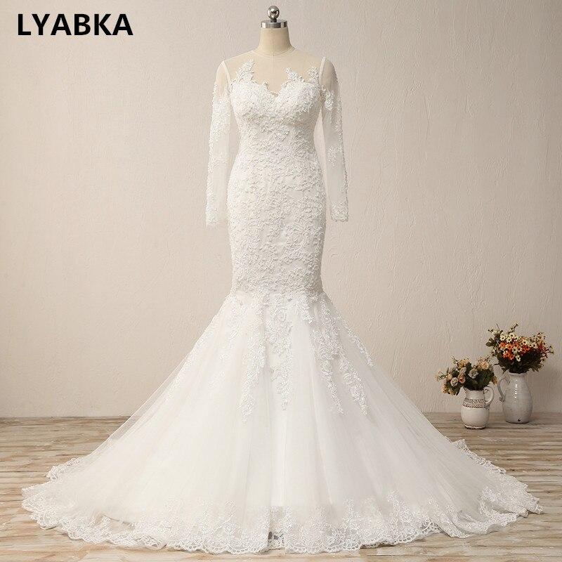 Vestido De Noiva 2019 New Style O Neck Wedding Dresses
