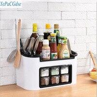 Fashion multifunctional kitchen shelf seasoning box seasoning jar set combination knife holder