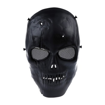 LHBL Airsoft Mask Skull Full Protective Mask Military – Black Party Masks