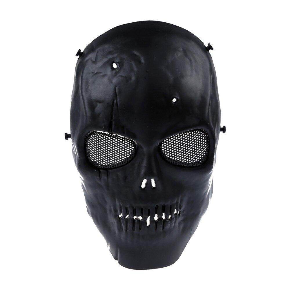 LHBL Airsoft Mask Skull Full Protective Mask Military - Black