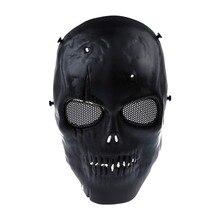 Lhbl Airsoft Masker Schedel Volledige Beschermende Masker Militaire Zwart