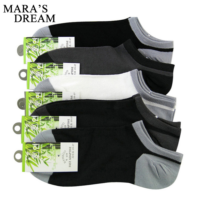 Mara's Dream 6pcs=3pairs/lot Summer Men's Bamboo Fibre Invisible Boat Socks Ankle Socks Male Fashion Sock Slippers
