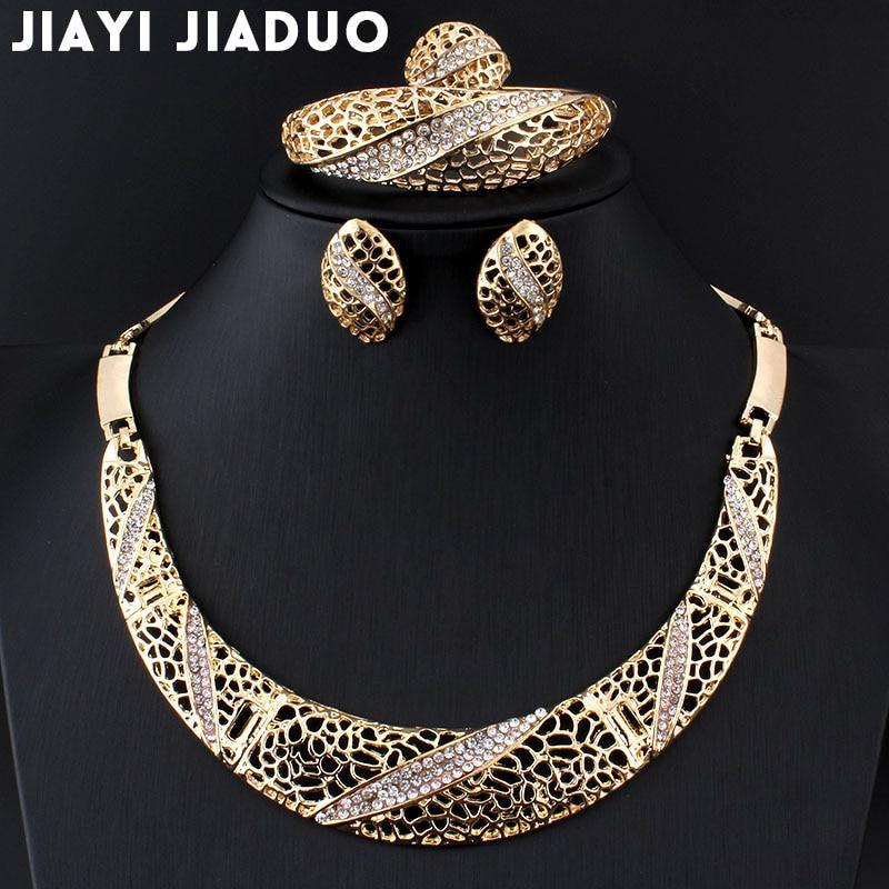 Brautschmuck Sets Fein Jiayijiaduo Afrikanische Frauen Schmuck Set Imitation Perle Halskette Ohrringe Set Hochzeit Kleid Zubehör 2 Teile Dropshipping