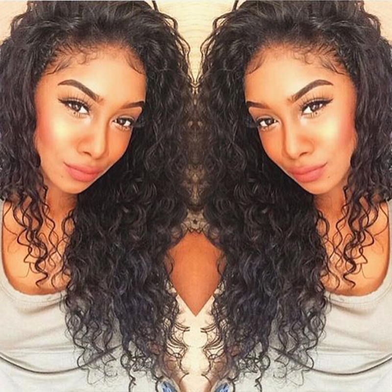 3b78446b2 8A Pre Plucked 360 Lace Frontal Closure Deep Wave Curly Peruvian Virgin Hair  Natural Hairline 360 Lace Frontal With Baby Hair