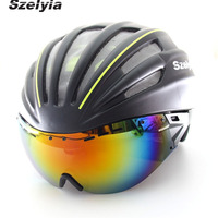 Cycling Helmet Sunglasses Visor Casco Ciclismo Bike Bicycle Helmet Capacete Da Bicicleta Casco Mtb Bike Helmet