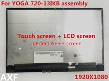Original Para 720-13IKB YOGA YOGA 720-13 720 13 LP133WF4 SPB1 B133HAN04.2 1920*1080 tela LCD assembléia tela