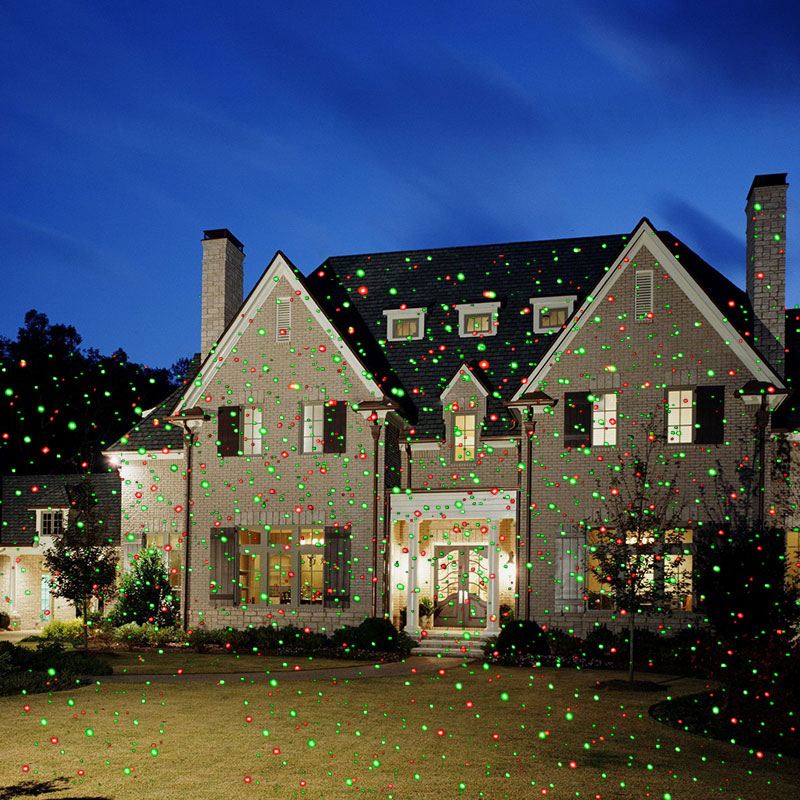 Outdoor Laser Lights Christmas Lawn Projector Holiday Decor With Remote Red Green Color Moving Effect Waterproof - 5