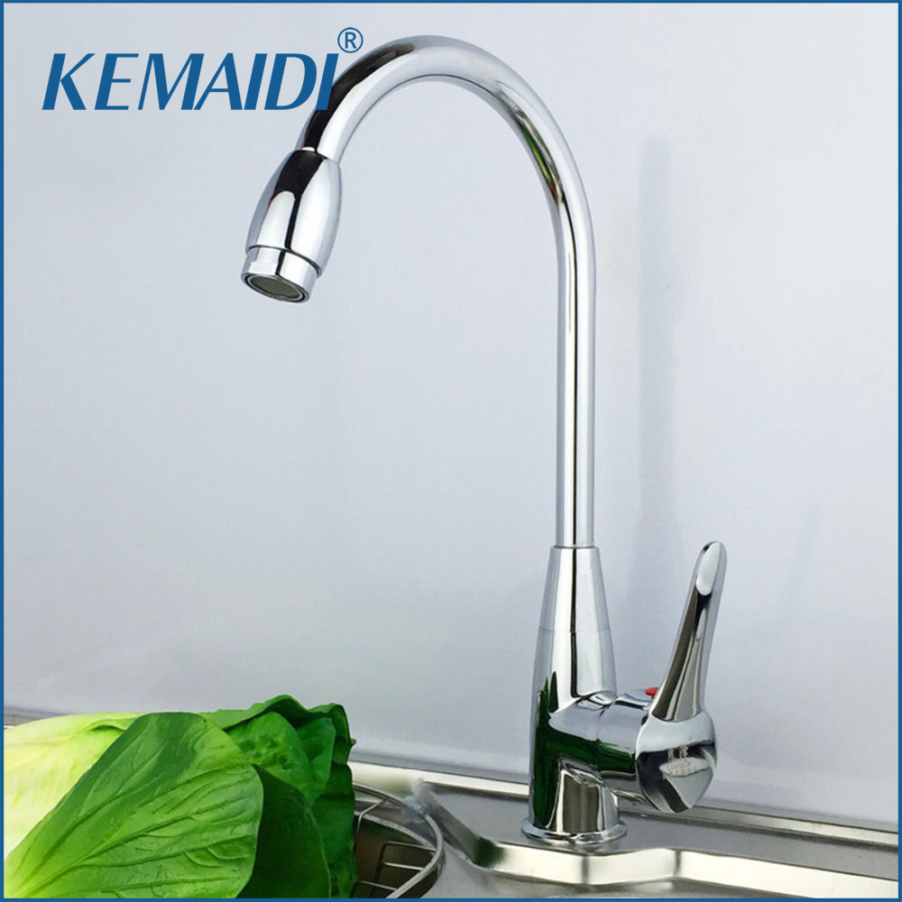 KEMAIDI Solid Brass Kitchen Mixer Cold and Hot Kitchen Tap Single ...