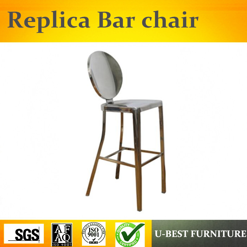 Free Shipping U-BEST Replica Modern Design Furniture,stainless Steel K-ong Barstool With Armless,pub Furniture Counter Stool